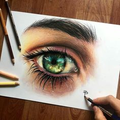 WANT A SHOUTOUT ?   CLICK LINK IN MY PROFILE !!!    Tag  #DRKYSELA   Repost from @elia_pelle   Here is the final version of my last realistic eye drawing I did with prismacolor and @chameleonpens  Hope you like it  Eye of @irene.melega  via http://instagram.com/zbynekkysela