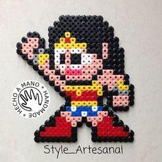 Wonder Woman hama beads by  style_artesanal