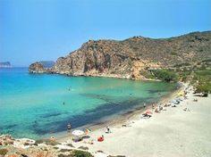 Plathiena beach in Milos island