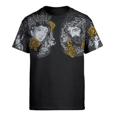 Mother Mary And God  - Christian All Over Printed Unisex Shirts - AM Style Design - T-Shirts / M