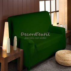 Funda Elástica Sofá Verde Botella, modelo TUNEZ, adaptable a cualquier sofá, renueva y protege la tapicería del sofá, máxima calidad, tejido muy resistente, ...