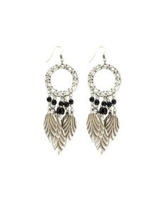 Black & Silver Drop Earring #dreamcatcher #earing #ohnineone #accessory
