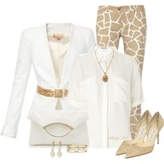 """Trousers,Shirt,Heels"" by allisha-fa on Polyvore"