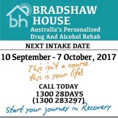 Bradshaw House - Australia's Personalised Drug And Alcohol Rehab based in the Grampians. Next 28 days runs from 10 September - 7 October, 2017  #alcoholtreatmentservices #alcohol #drugs #rehab #addiction #giveup #sober #28days #victoria #australia