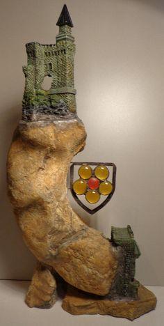 Ammonit Franken Jura Malm Burg auf hohen Fels