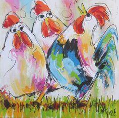 kippen schilderij - Google zoeken