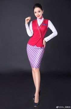 Air Hostage, Pilot Clothing, British Airways Cabin Crew, Rock Outfits, Flight Attendant, Sexy Asian Girls, International Fashion, Dresses For Work, Dress Work