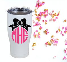Monogram Bow Decal   Vinyl Decal   Personalized Gift   Yeti Decal   Car Decal   Laptop   Phone Decal   Yeti Rambler   Yeti Tumbler by southerlycharm on Etsy