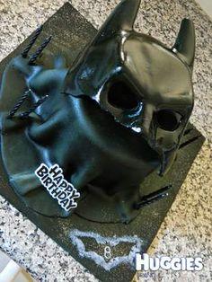 Chocolate Cake With Vanilla Buttercream Icing Boys Birthday - Dark knight birthday cake