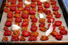 Oven roasted tomatoes. I use these to make a robust sauce, and to add to recipes. The flavor is amazing.