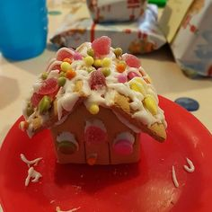 Get a load of my gingerbread shack Gingerbread, Waffles, Biscuits, Pudding, Treats, Breakfast, Desserts, Food, Crack Crackers