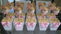 Pink and gold birthday party decor, mason jar set of baby shower centerpiece Baby Shower Buffet, Fiesta Baby Shower, Shower Party, Baby Shower Parties, Baby Shower Themes, Pink Und Gold, Teddy Bear Baby Shower, Tissue Paper Flowers, Childrens Party