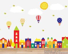 City Wall Decals Nursery Wall Decal Wall Decals Nursery