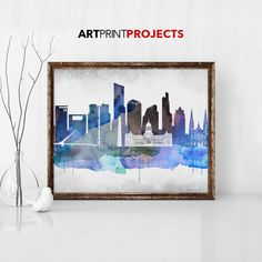 Buenos Aires watercolor art print Buenos Aires by ArtPrintProjects