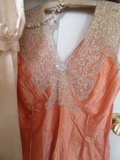 rayon peach nightwear 1940 era