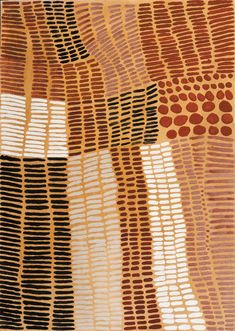 Lena Nyadbi, Jimbala County, 2000, Natural pigments on canvas, 100 x 140 cm., Warmun Art Centre.