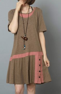 Khaki oversize summer fit flare dress plus size sundress 2019 - dress sundress dresses casual cheap dresses simple - hashcats} - Cocktail Dress Summer 2019 wedding summer Plus Size Fashion Dresses, Plus Size Dresses, Plus Size Outfits, Cheap Summer Dresses, Dress Summer, Summer Skirts, Summer Sundresses, Plus Size Sundress, Simple Cocktail Dress
