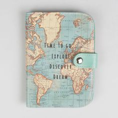 Travel document holder passport holdertop quality linen zipped details about vintage world map duck egg blue passport holder cover by sass and belle gift gumiabroncs Image collections
