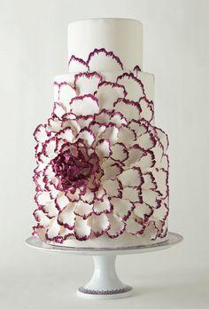 Purple flower cake.