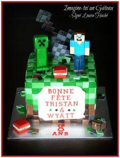 Minecraft cake with sword
