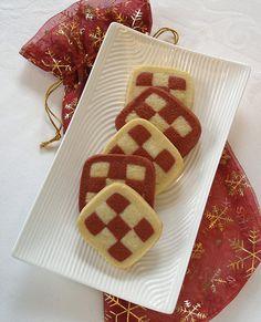 Red Velvet Checkerboard Cookies