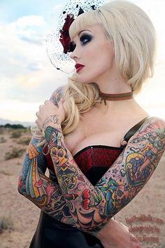 colorful-ful-sleeve-tattoo-ideas