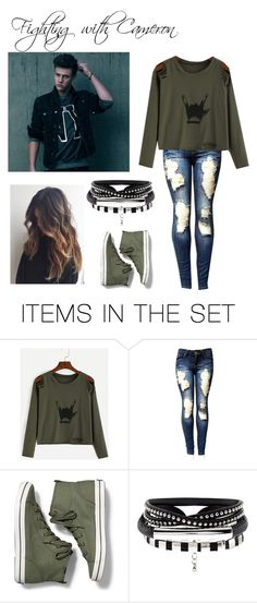 """""""Fighting with Cameron (for itsnikkibruh8oldmagcon)"""" by helloitsme-167 ❤ liked on Polyvore featuring art"""