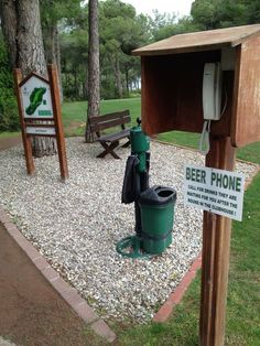 Why doesn't every course have this?!? #BeerPhone I Rock Bottom Golf #rockbottomgolf