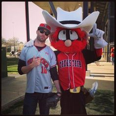 Coach Kingsbury and Raider Red