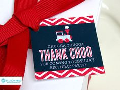 """Train Favor Tags - Train Birthday - Chevron - Train Printable - Boy Birthday - Chevron Birthday - Printable Party - First Birthday...cute since Colin is our """"caboose"""""""