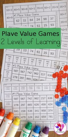 Fun Math Place Value Games Place Value Games, Place Value Activities, Math Activities For Kids, Math For Kids, Fun Math, Number Activities, Teaching Place Values, Teaching Math, Third Grade Math