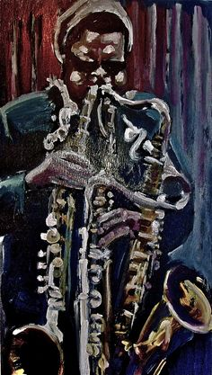 Roland Kirk, Sax Man, Hard Bop, Jazz Poster, Jazz Art, All That Jazz, Jazz Musicians, Art World, Portrait