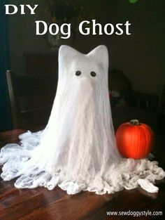 Sew DoggyStyle: Cheesecloth Ghost - Dog Edition!