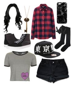"""Amusement park :)"" by deaththeghoul ❤ liked on Polyvore featuring Levi's, Topshop, Uniqlo, Vans and Casetify"