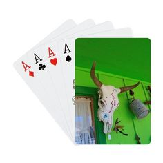 Cow Skull Playing Cards on CafePress.com