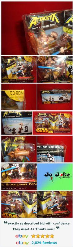 STAR WARS ATTACKTIX-5 FIGURES-LAST MAN STANDING STARTER SET-CD ROM-HASBRO-2005  | eBay