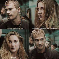 So weird, yet funny! Divergent Memes, Divergent Tris, Tris Y Tobias, Divergent Hunger Games, Insurgent Quotes, Divergent Fanfiction, Divergent Tattoo, Hunger Games Fandom, Tfios