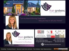 Facebook banner business cards front back logo liz engert business cards front back fran grebenc sales representative royal reheart Images