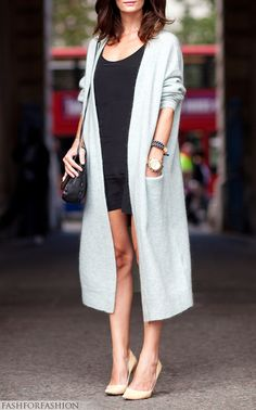 1000+ images about fashiOn : full length cardigan on ...