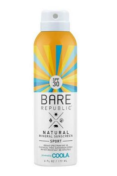 Target has upped the ante on its natural beauty selection, and this brand is a standout. It's a mineral sunblock without any chemical propellants, all in a recyclable can. Bare Republic Natural Mineral Sunscreen Sport SPF 30, $14.99; target.com   - ELLE.com