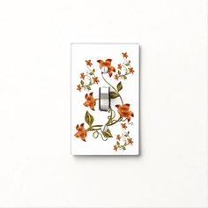 Find Orange light switch covers on Zazzle. Check out our wonderful designs and spruce up your home décor with our wall switch plates! Custom Lighting, Light Switch Covers, Light Up, Colorful Backgrounds, Patio, Orange, Garden, Floral, Pattern