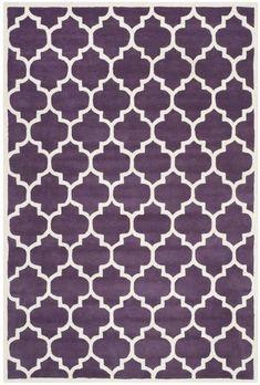 Safavieh Chatham CHT734F Purple / Ivory Rug