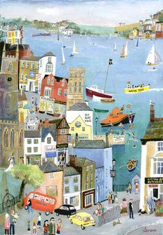 Fowey (S13) - Prints - Serena - Cornwall Art Galleries