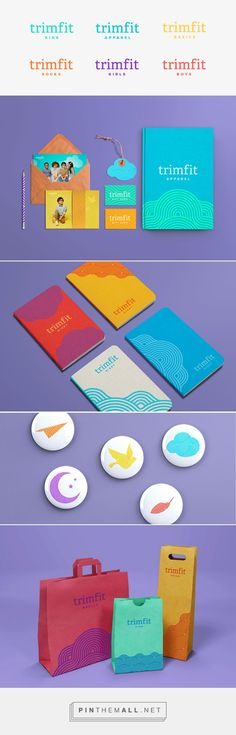Studio Scope Trimfit Apparel  packaging branding curated by Packaging Diva PD. Creating a brand that was accessible enough for the big box stores as well as boutique children's clothing stores.
