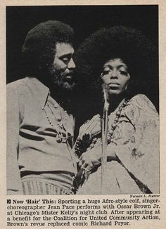 Jean Pace and Oscar Brown, Jr Performing - Jet Magazine January 15, 1970