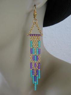 Seed Bead Earrings  Modern Native American Style  by pattimacs, $18.00