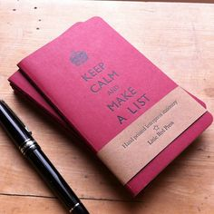Keep Calm And Make A List Letterpress by LittleRedPressLondon I NEED THIS $6.90