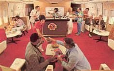 on Continental, the bar was the focus of the room and most seats came in pairs, easily accommodating couples and travelling companions