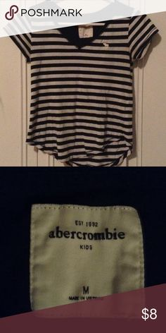 Abercrombie kids navy blue and white striped shirt Good condition abercrombie kids Tops Tees - Short Sleeve