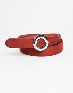 Pull&Bear - woman - accessories - belts - belt with hoop buckle - russet - 09872305-I2017